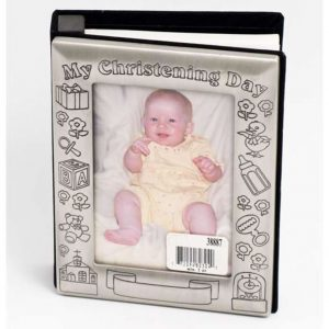 Pewter Christening Photo Album