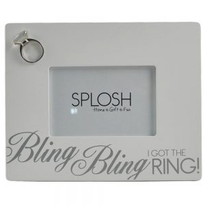 """Bling Bling I Got the Ring!"" Photo Frame"