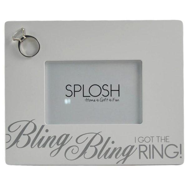 """""""Bling Bling I Got the Ring!"""" Photo Frame"""
