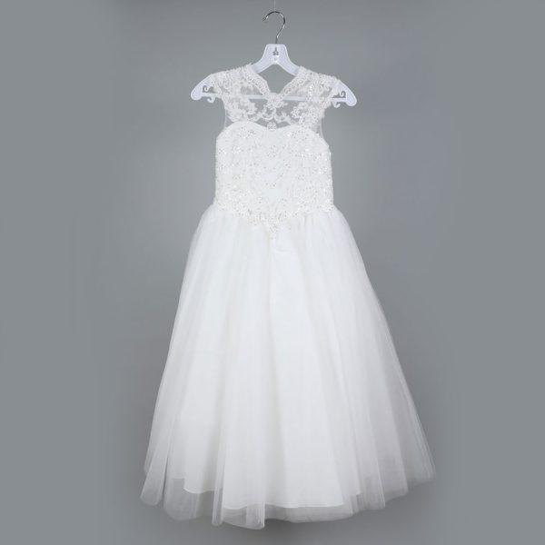 Girls Sleeveless Long Gown
