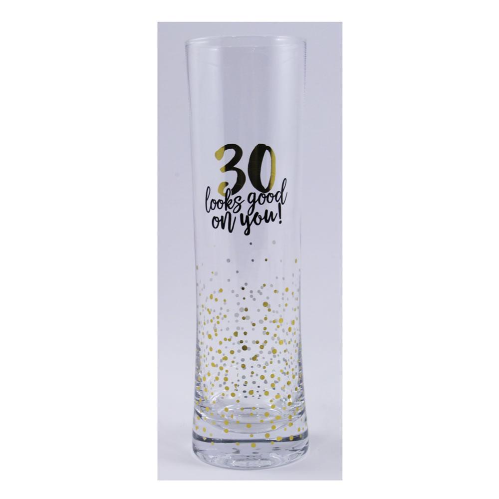 30th Birthday Glass