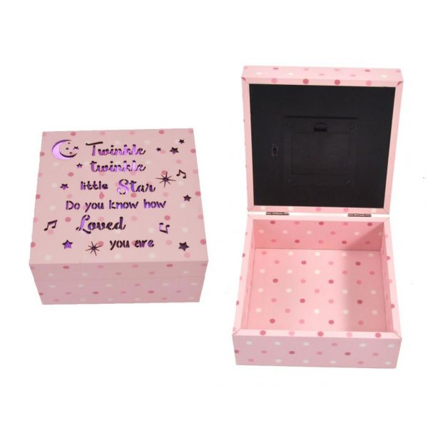 Pink Jewellery Box with LEDs