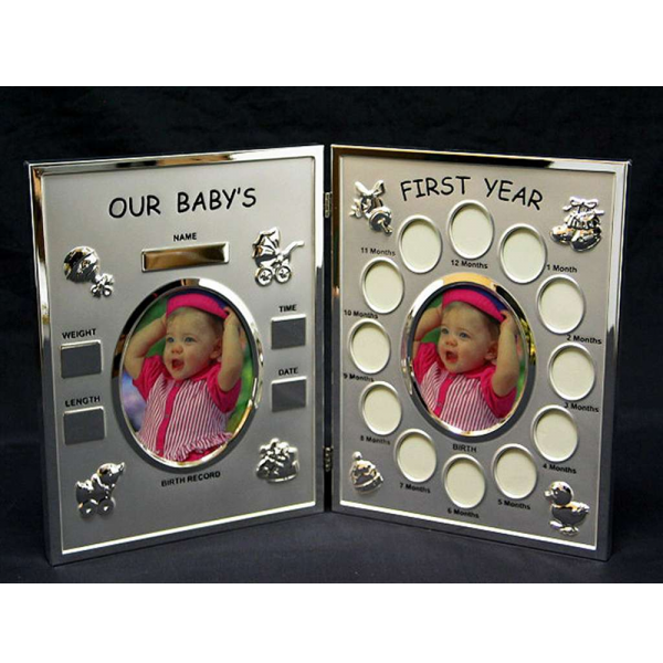 Baby's First Year Hinged Photo Frame