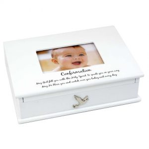 White Confirmation Keepsake Box