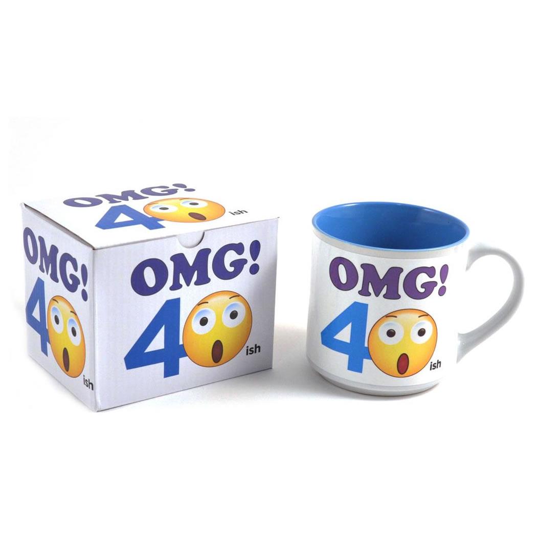 40th Birthday Emoji Mug