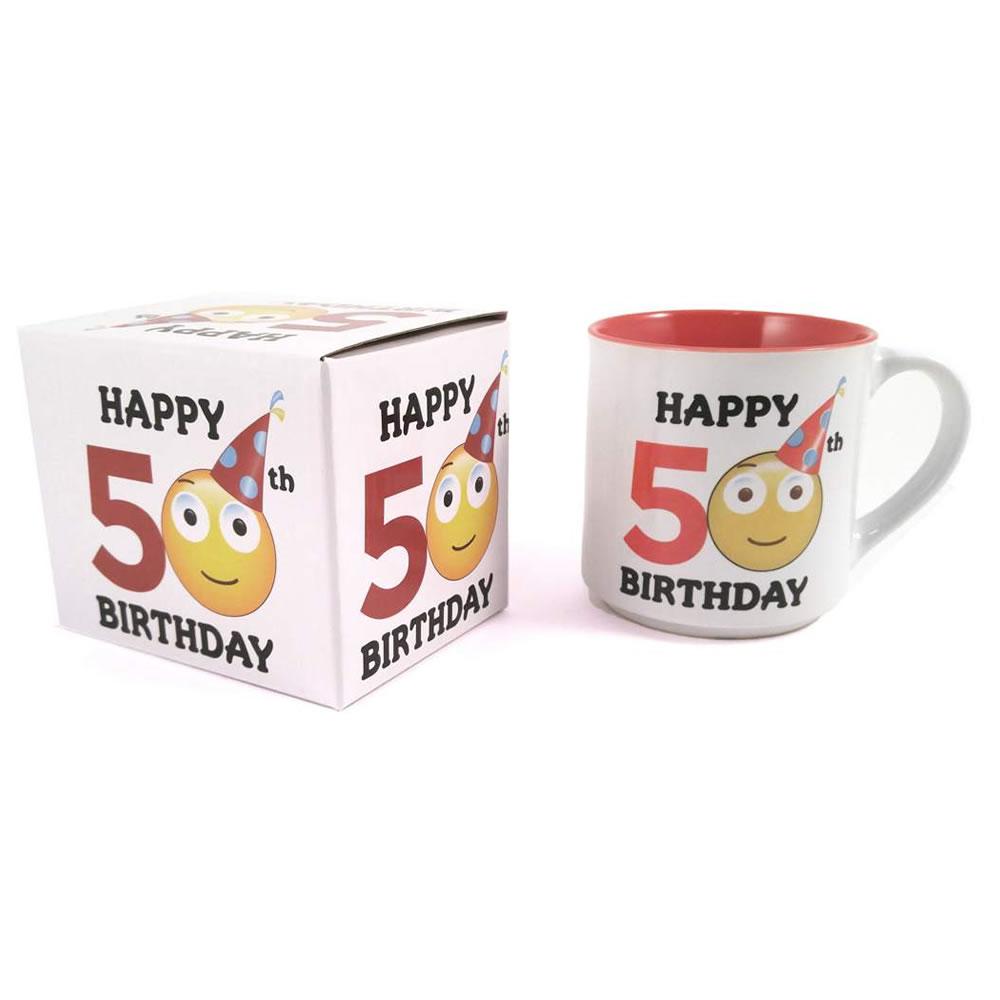 50th Birthday Emoji Mug