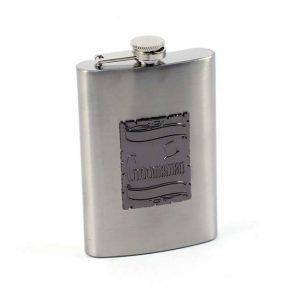 Silver Groomsman Flask