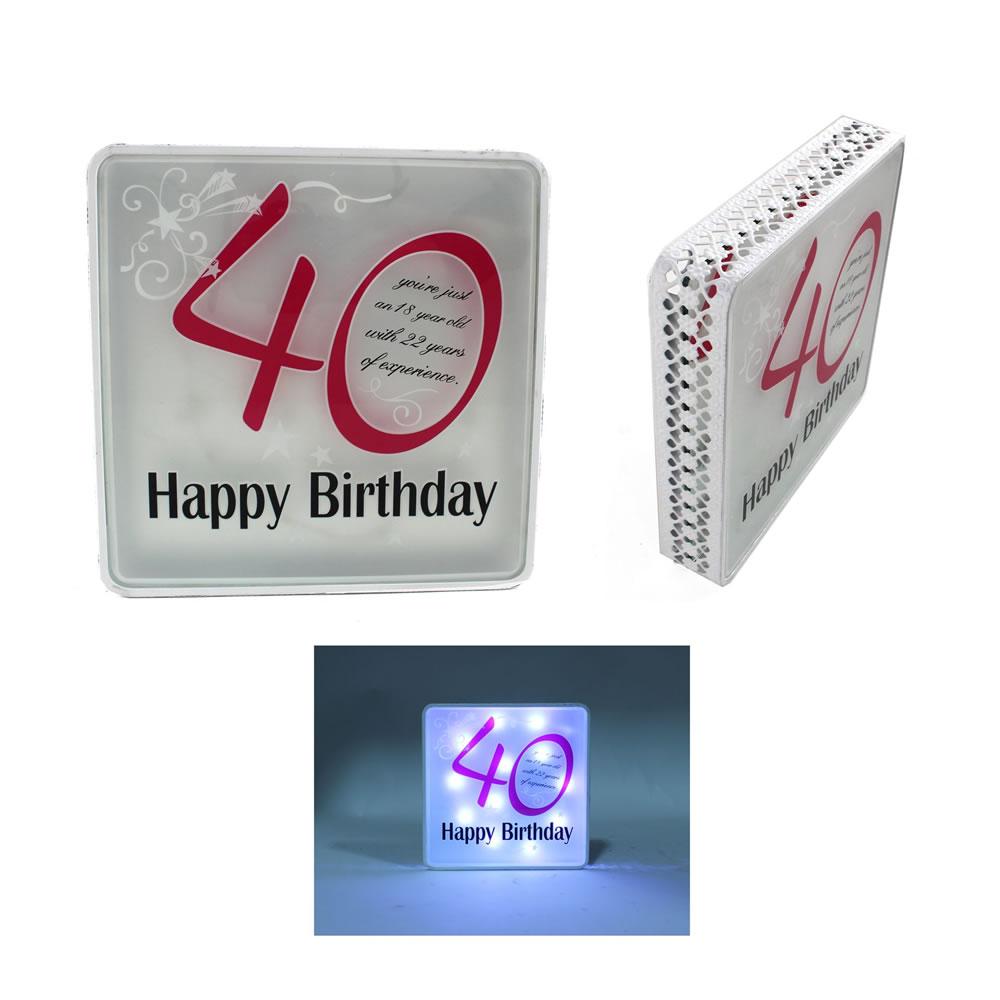 40th Birthday Sign