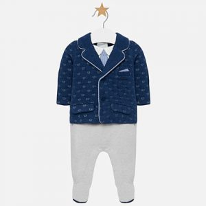 Mayoral Babygrow with Quilted Jacket