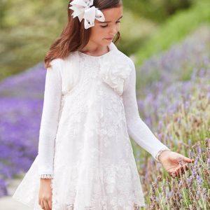 Abel & Lula Long Sleeve White Dress